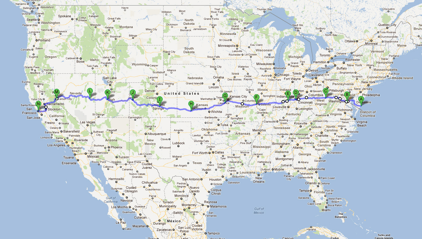US Route Wikipedia Us Route Loneliest Road West To East We - Us route 50 map