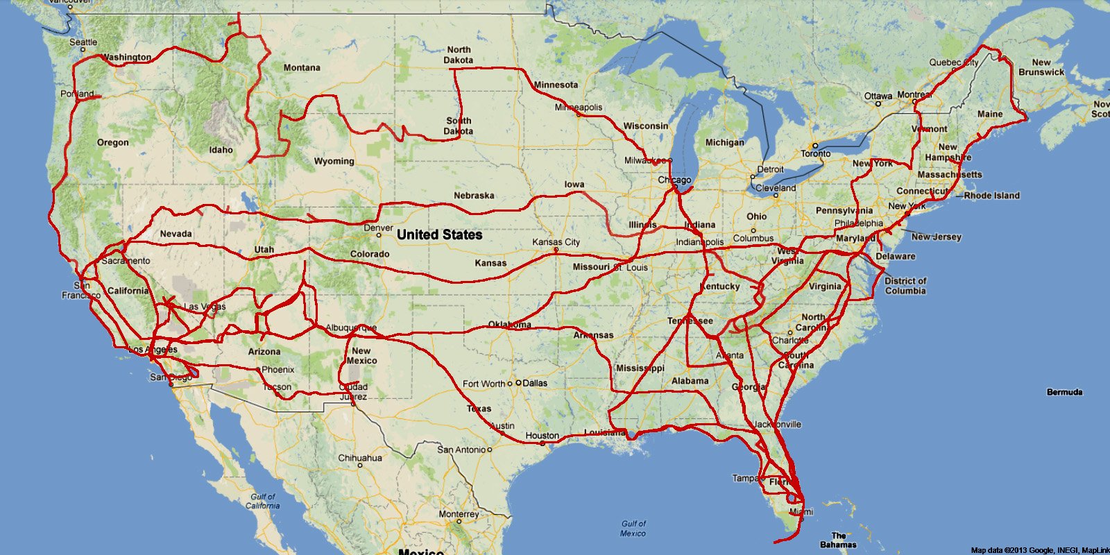 Dr Bobs US Northeast Motorcycle Ride Wrap - Us northeast map